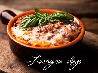 Вкусные Lasagnа days в Tarantino Italian&Grill